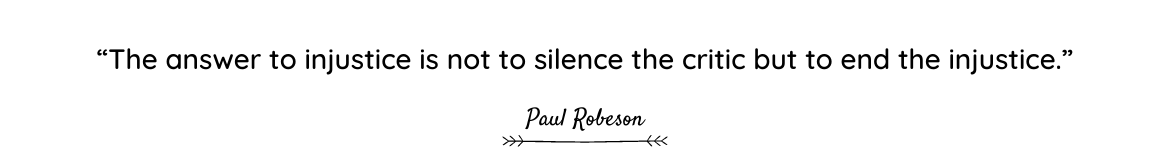 Paul Robeson quote