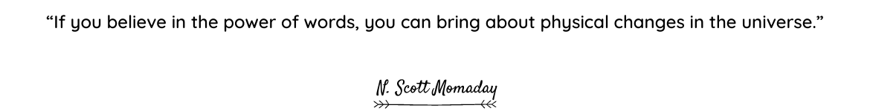 N. Scott Momaday quote