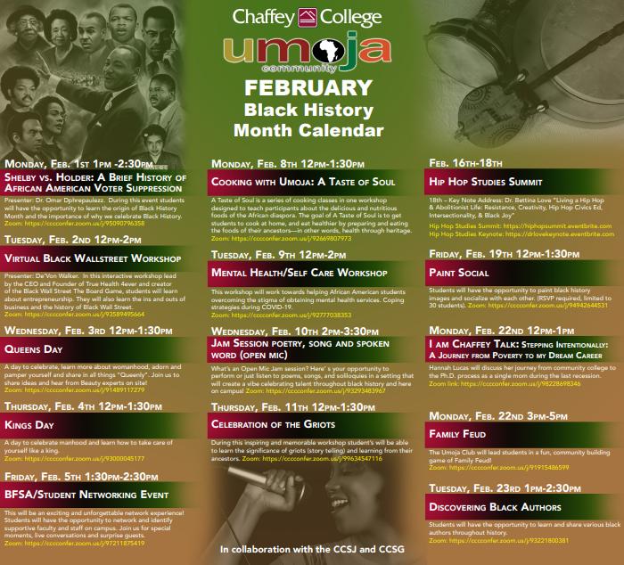 UMOJA Black History Events