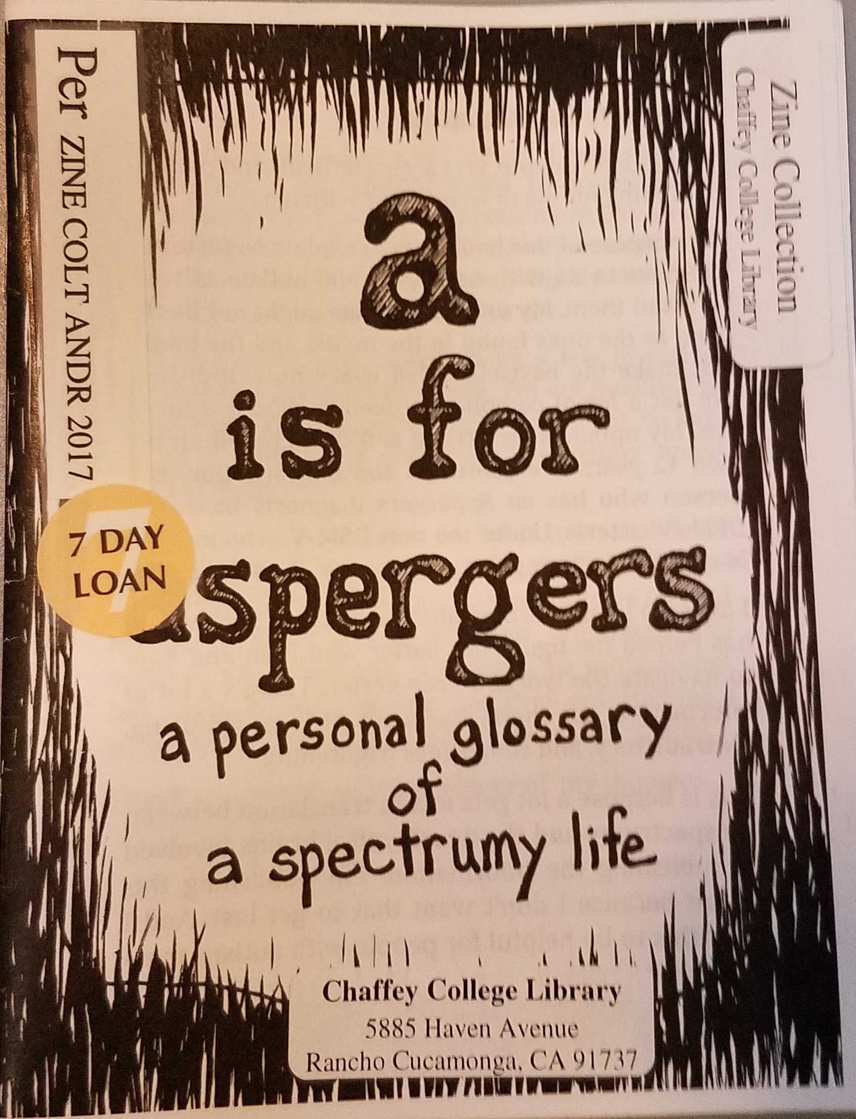 A is for aspergers : a personal glossary of a spectrumy life