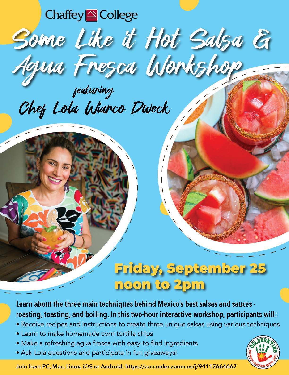 Some Like it Hot Salsa & Agua Fresca Workshop