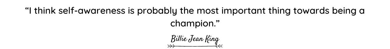 Billie Jean King quote