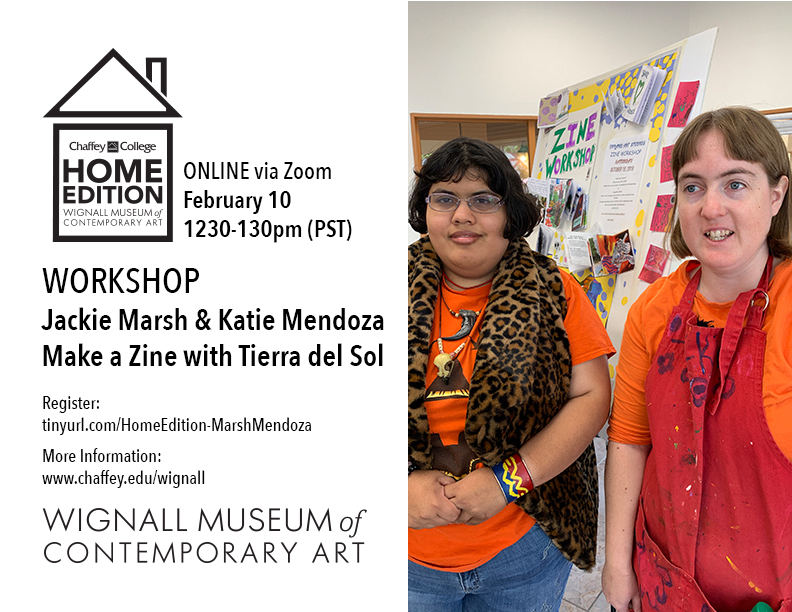 WORKSHOP: Make a Zine with Tierra del Sol Studios Jackie Marsh & Katie Mendoza