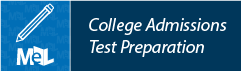 College Admissions Test Preparation from LearningExpress Library web button example