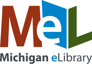 full color logo with Michigan eLibrary