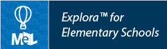 Explora for Elementary Schools web button example