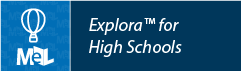 Explora for High Schools web button example