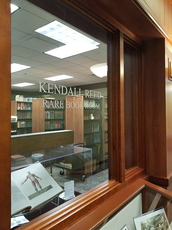 Kendall Reed Rare Book Room from front window.