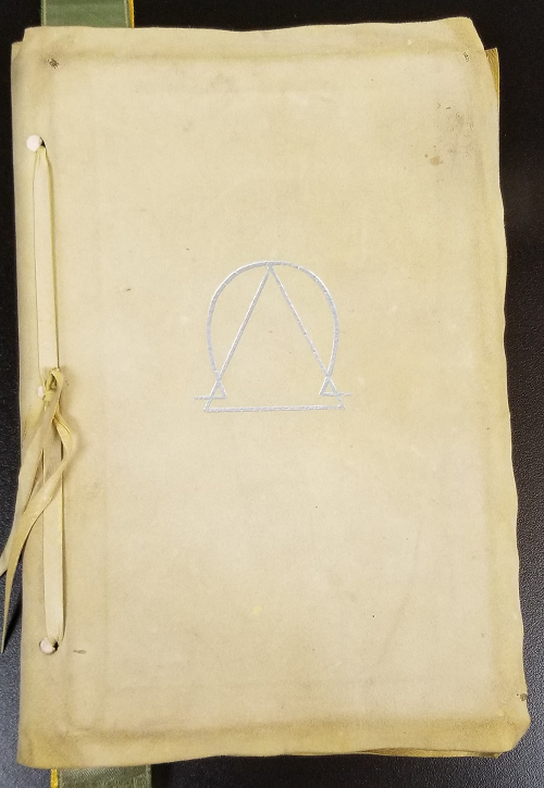 Front cover of the Delta Omega ritual book.