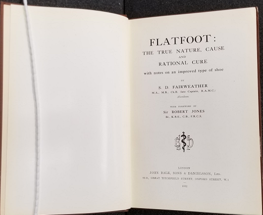 "1932 title page of ""Flatfoot"" by Fairweather."