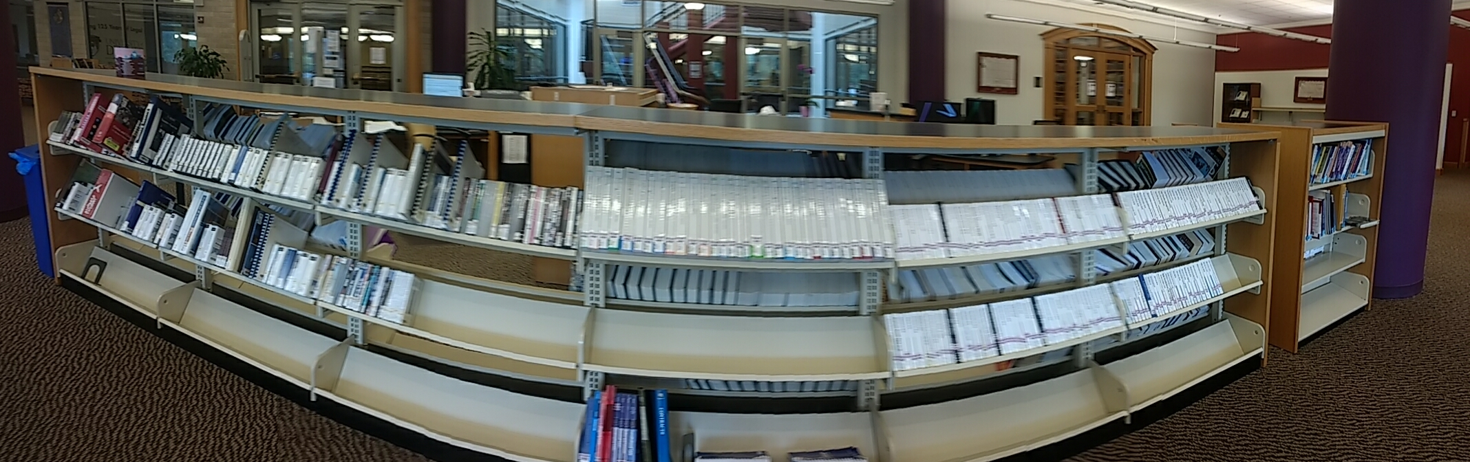 Panoramic Shot of Study Aids section
