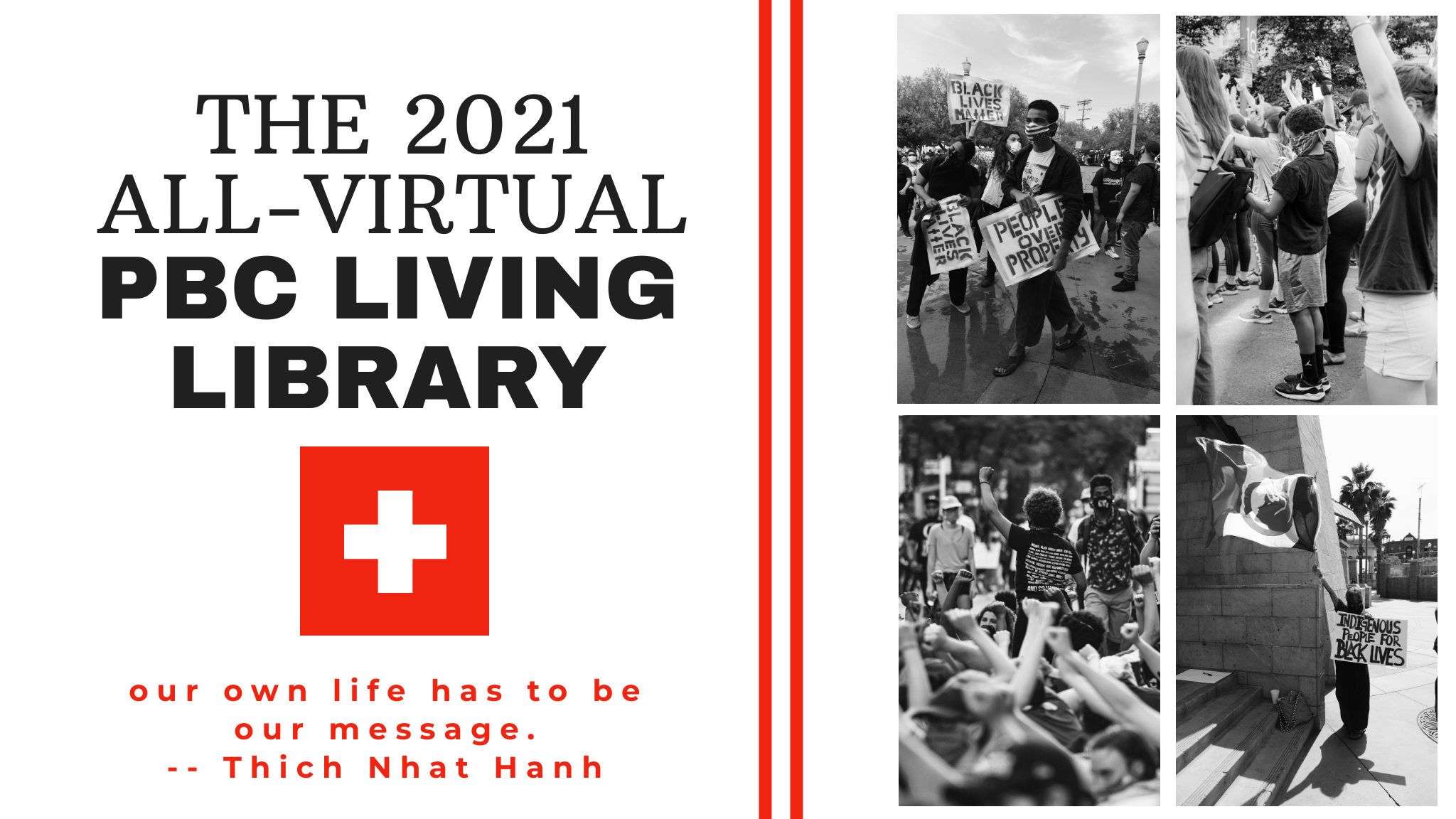 A picture of the 2021 living library flyer