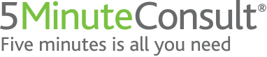 A picture of the 5 Minute Consult logo
