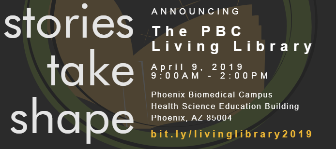A picture of the PBC Living Library banner