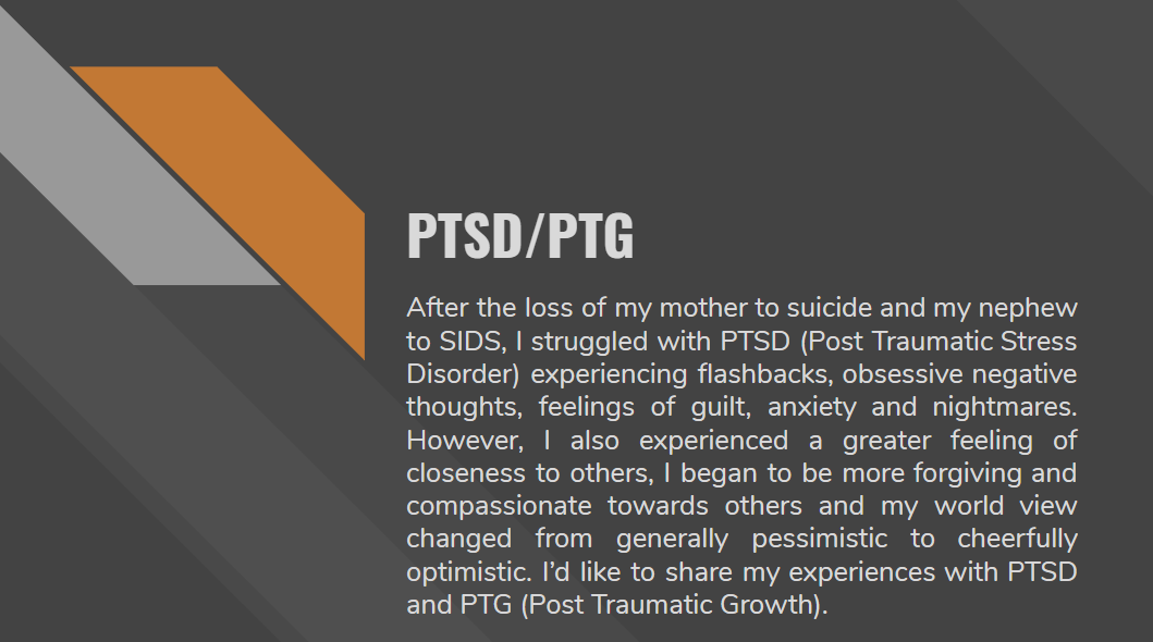 This is a picture of a sample book title from a person with PTSD