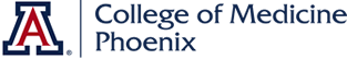 A picture of the UA College of Medicine Phoenix logo
