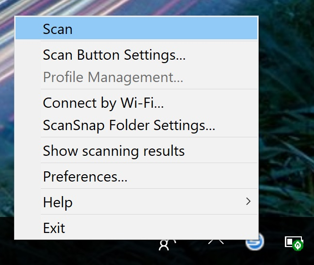 Starting a Scan from your Computer