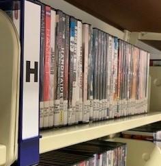 DVD shelf photo