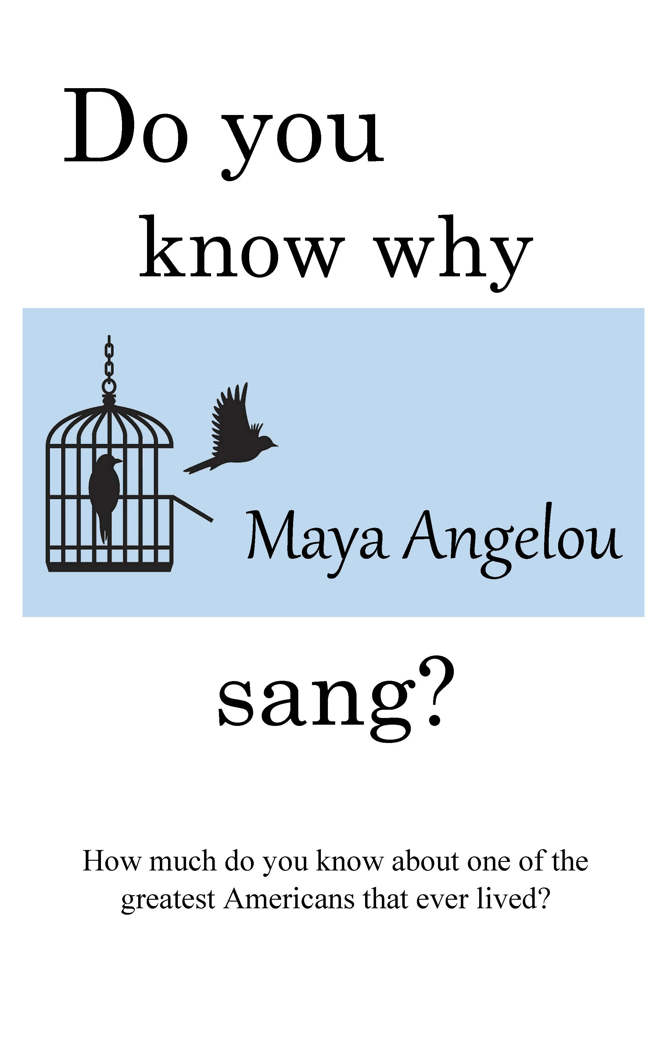 Maya Angelou display poster image