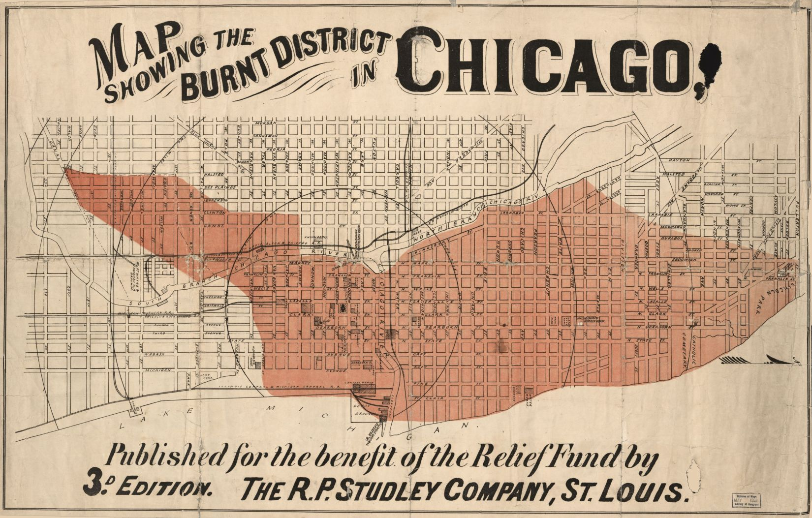 image of a map of the chicago fire