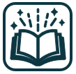 Exciting books icon