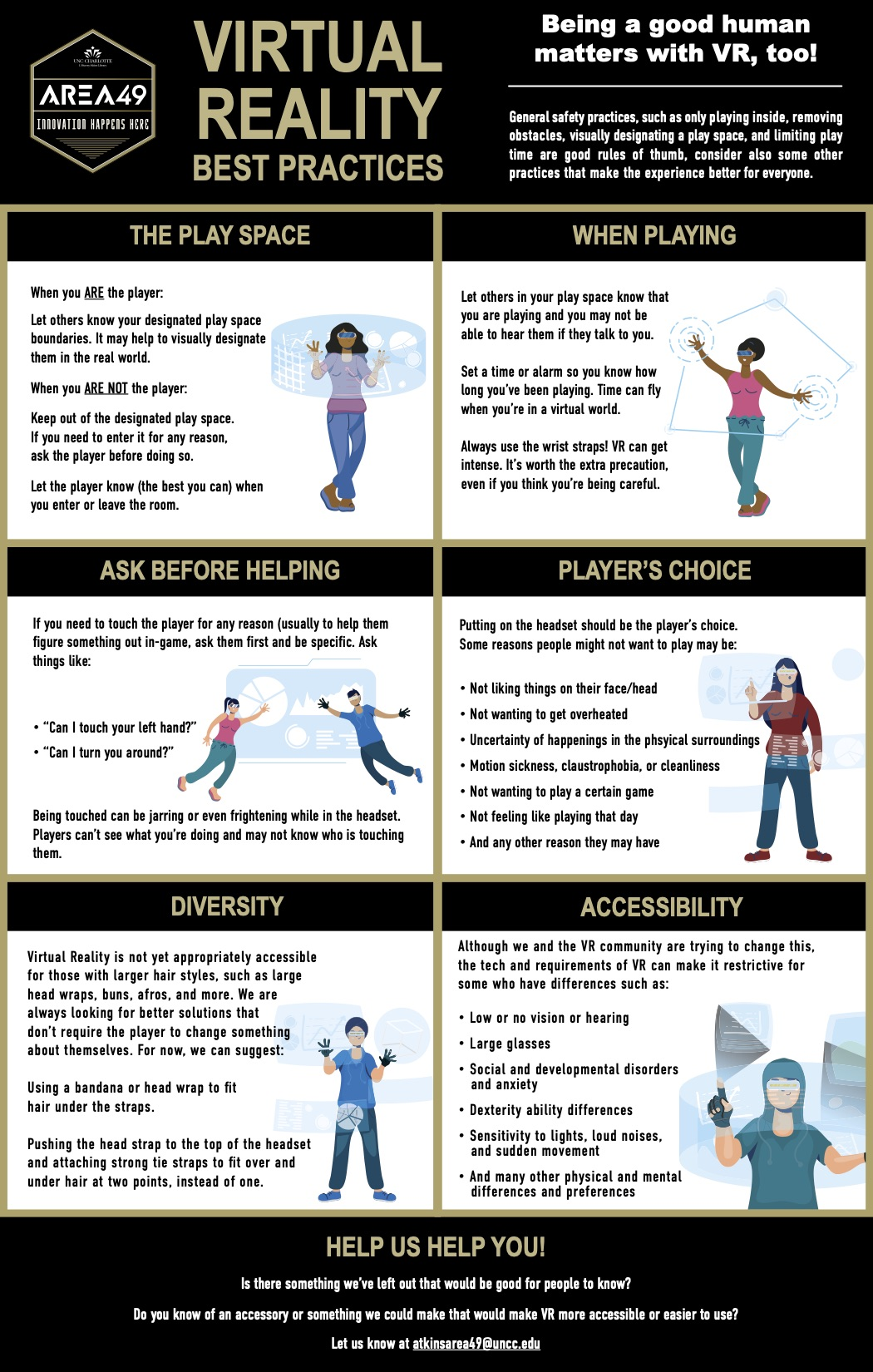 Virtual Reality Best Practices Infographic