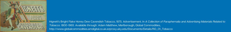 A historical advertising image for Hignett's tobacco