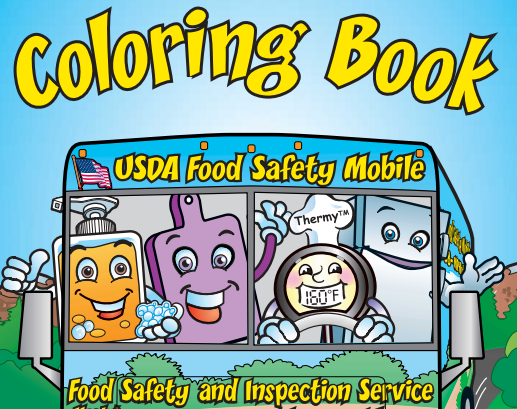 Book cover for USDA Food Safety Mobile Coloring Book