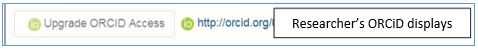 Upgrade ORCiD Access