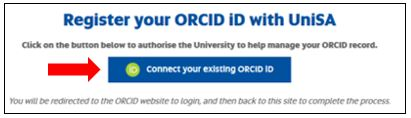 connect your exisiting ORCiD iD