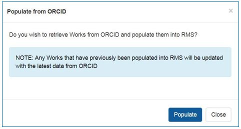 Populate from ORCiD