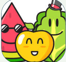cartoons of a yellow apple with a smiley face which is flanked by a slice of watermelon with sunglasses and a head of lettuce wearing a tophat