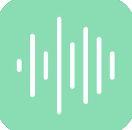 green background with white sound wave