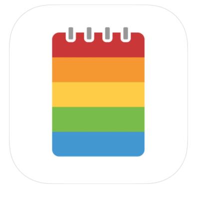 rainbow striped spiral notebook
