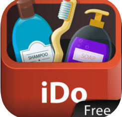 "red case with soap, toothbrush, and lotion that says ""I do"""