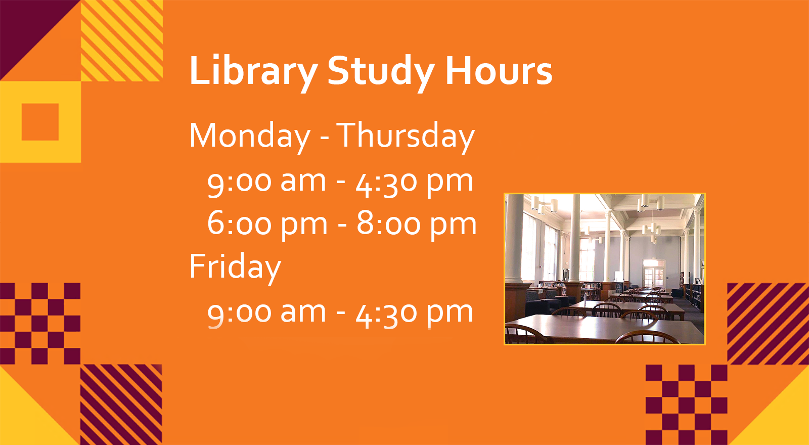 spring 2021 study hours