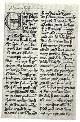 Frauenfeld schwesternbuch text, single page (public domain)