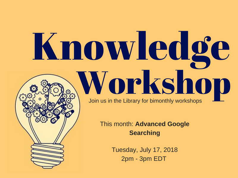 Knowledge Workshop July flyer