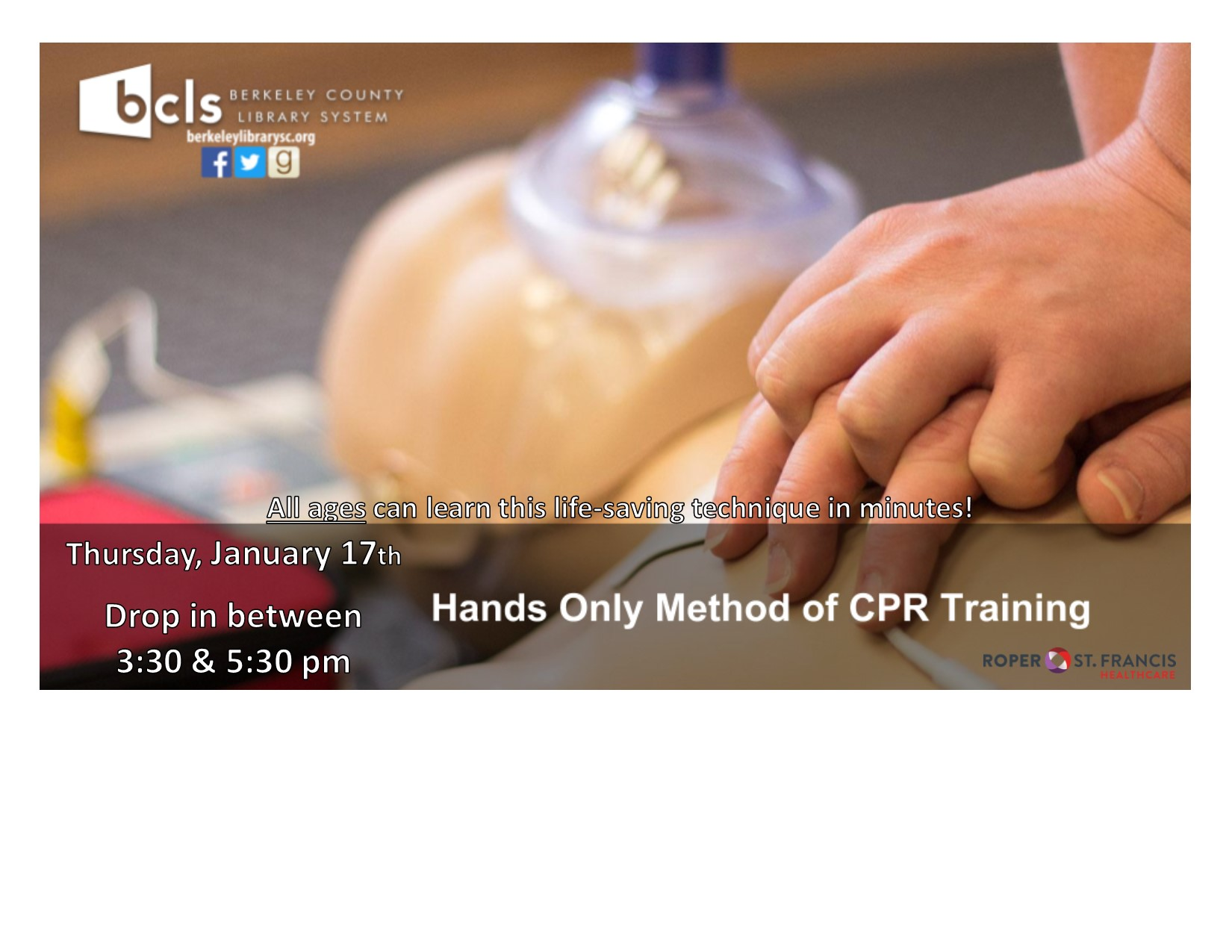 Hands Only CPR with Roper St. Francis