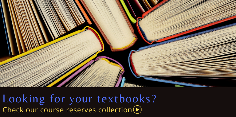 Find your textbooks on reserve