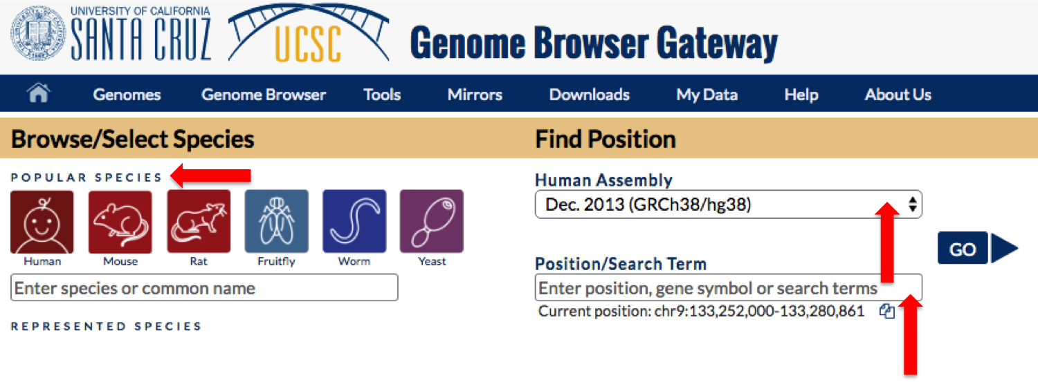Screenshot of the Gateway Start page.