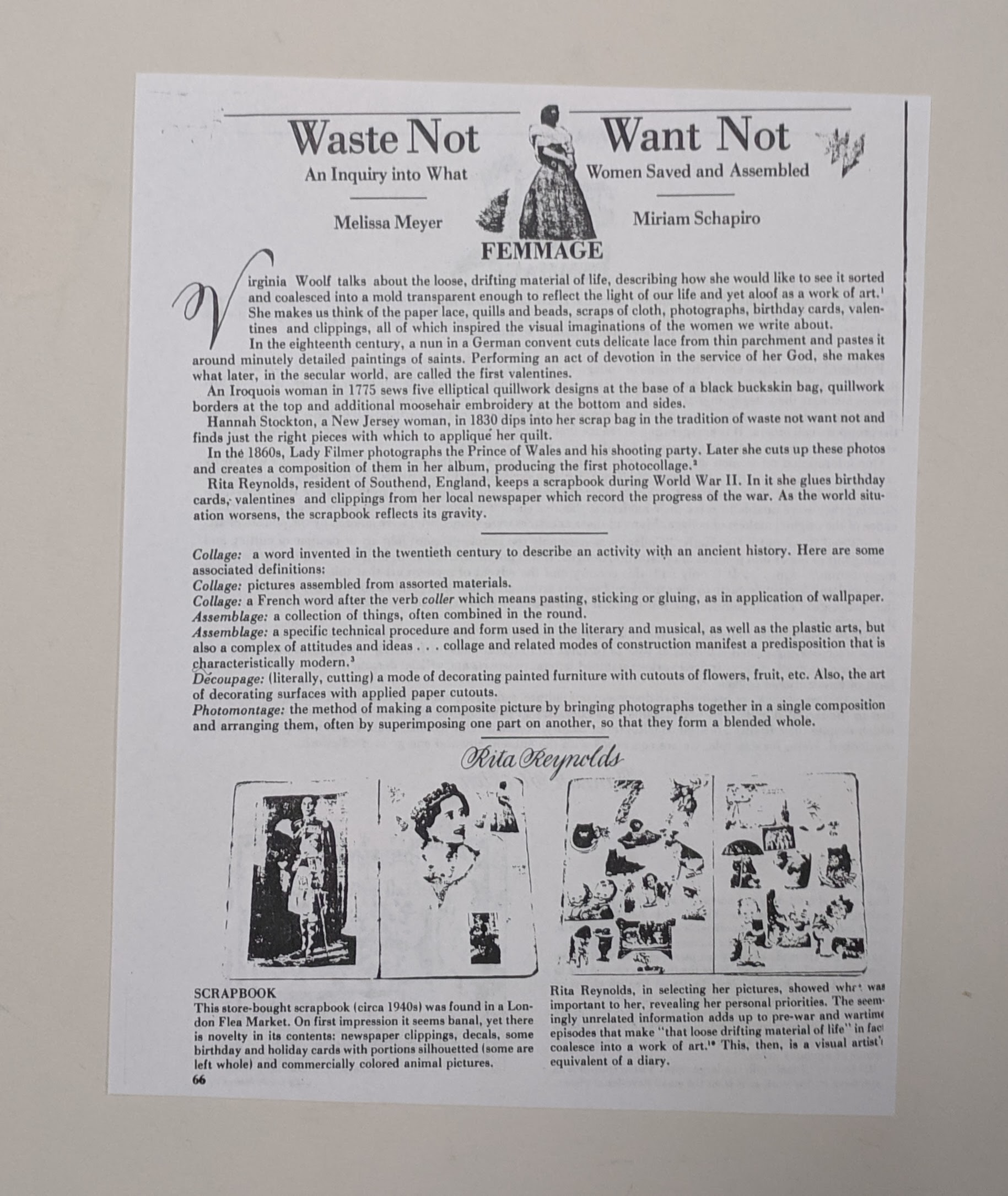 """Waste Not Want Not"", with Melissa Meyer."