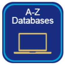 A-Z database  button on library homepage