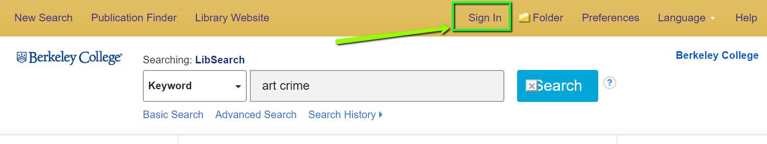 screen shot of LibSearch header