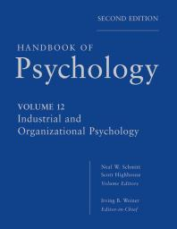 Handbook of psychology cover