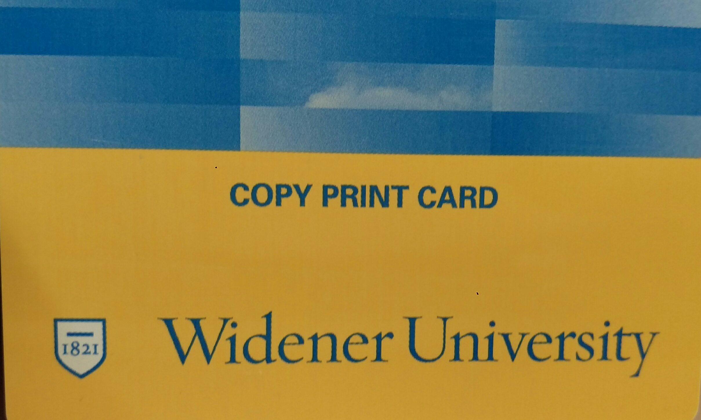 copy print card