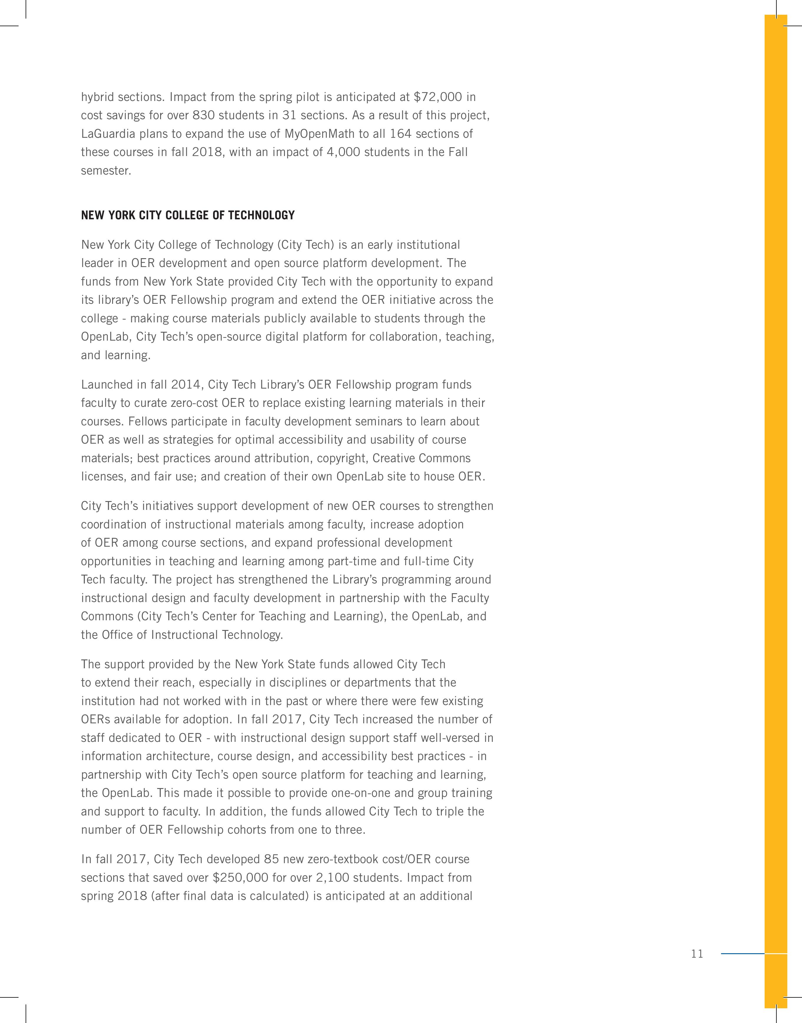 CUNY Report page 11
