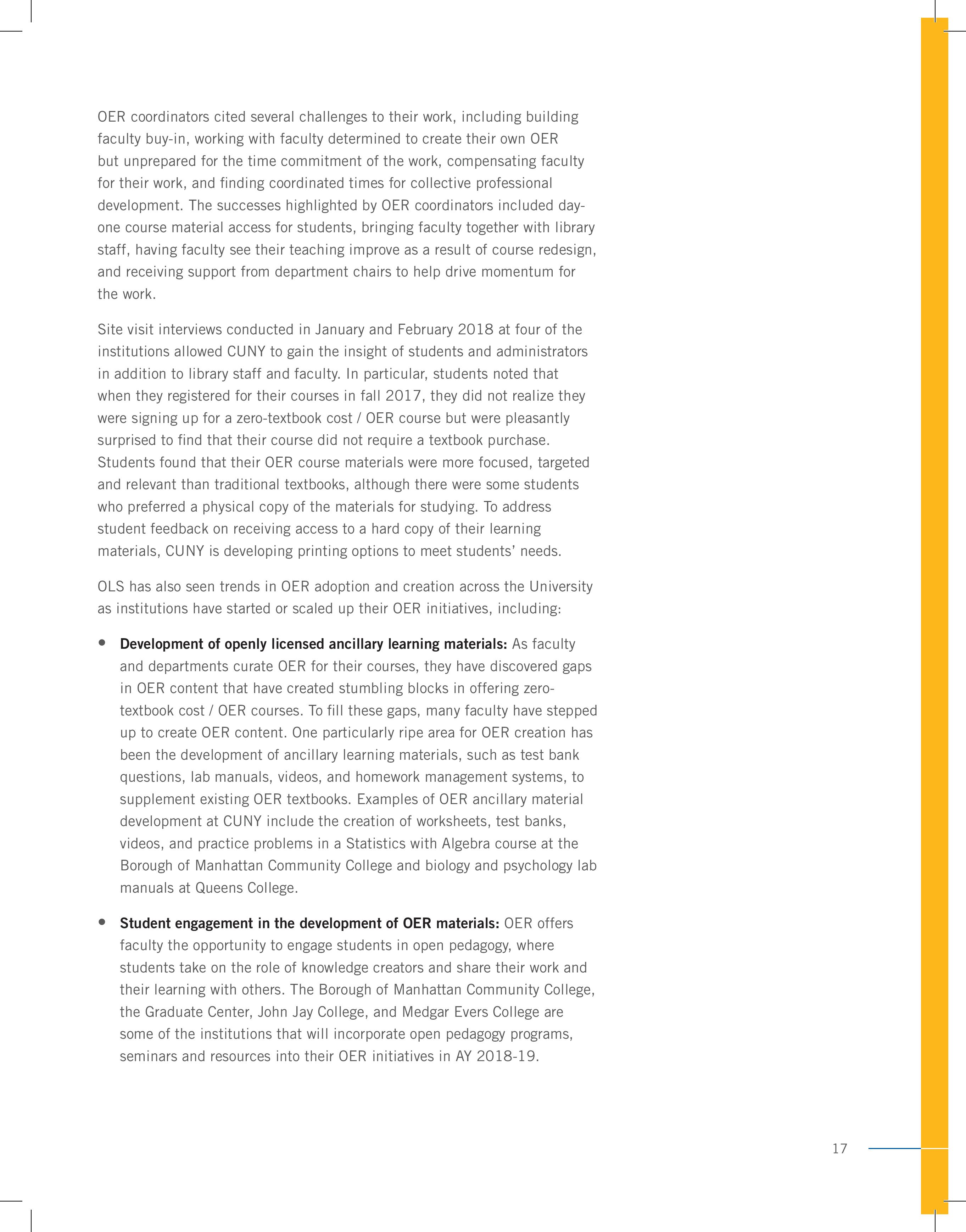 CUNY Report page 17