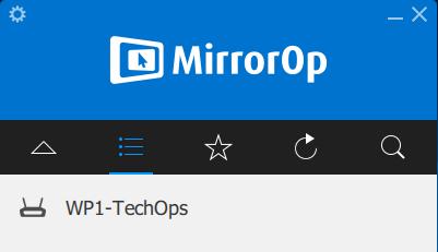 WePresent detection in MirrorOp App