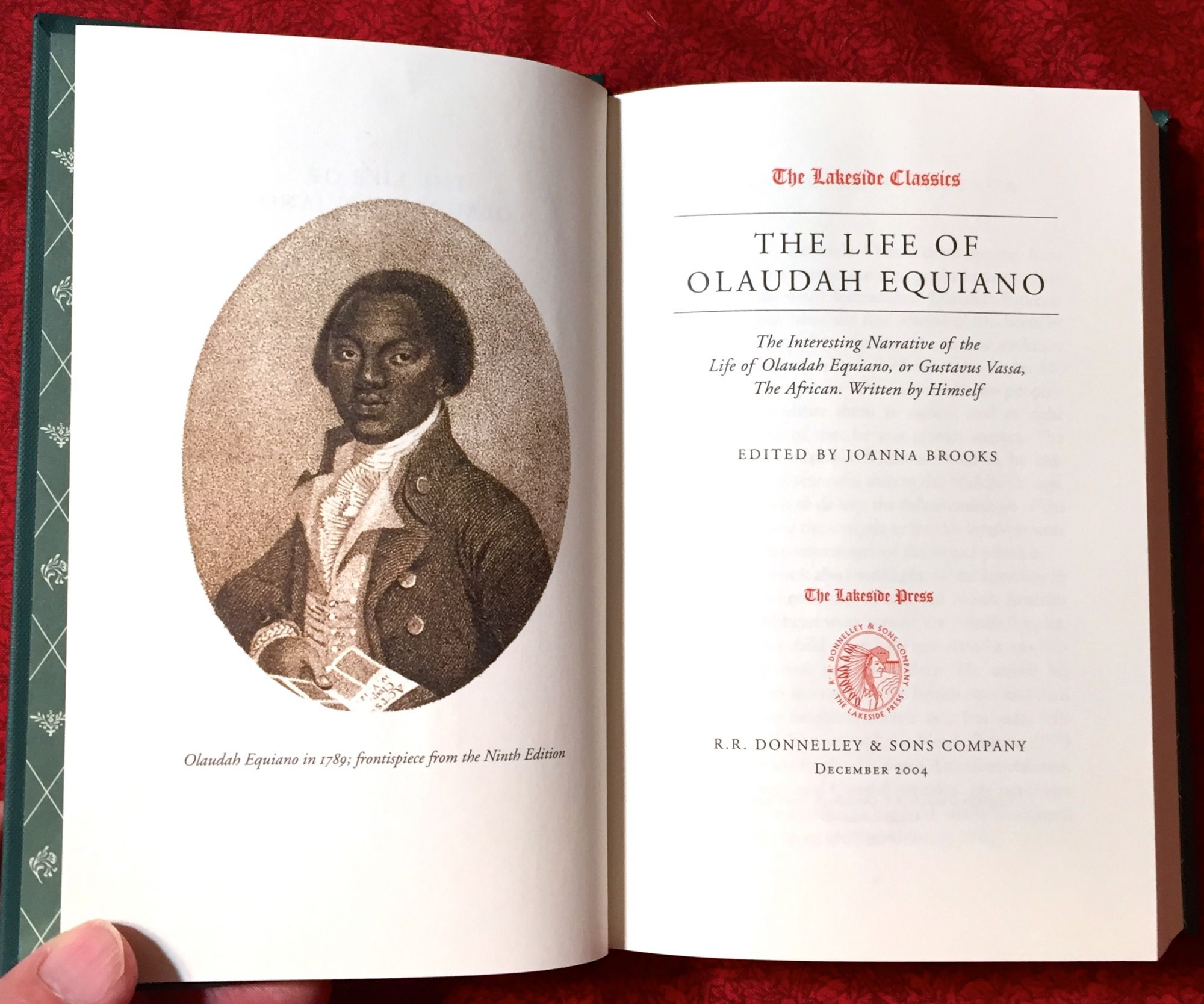 Interesting Narrative of the Life of Olaudah Equiano - Chicago 2004